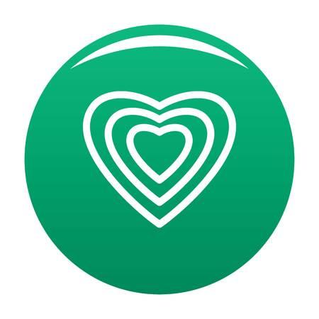 Human heart icon green
