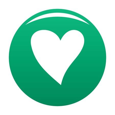 Cruel heart icon green