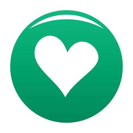 Evil heart icon green