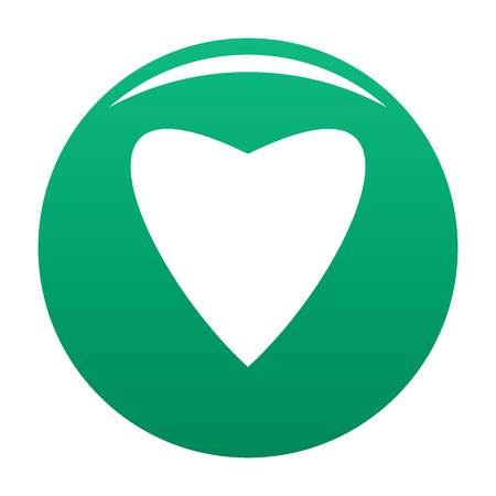 Proud heart icon green Stock Photo