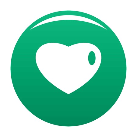 Three-dimensional heart icon green