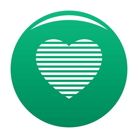 Warm heart icon green Stock Photo - 111439849