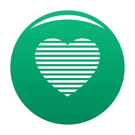 Warm heart icon green