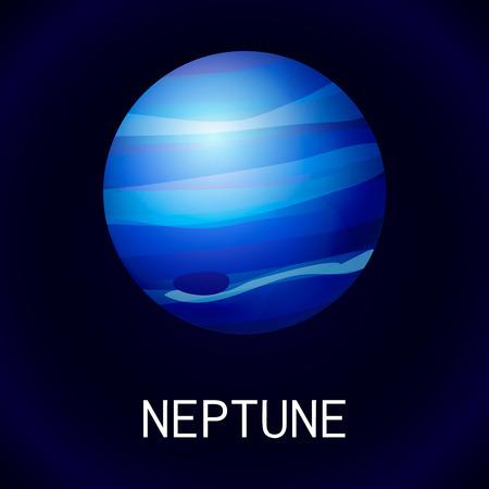Icono del planeta Neptuno, estilo de dibujos animados Foto de archivo