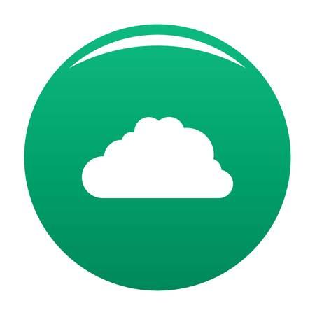 Big cloud icon vector green Illustration