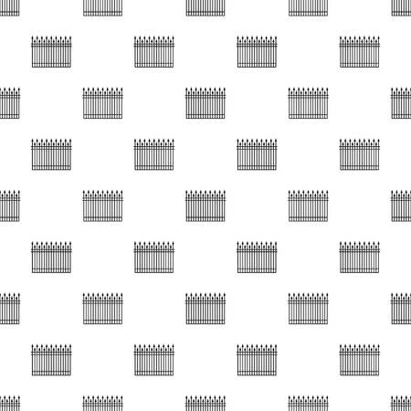 Clôture avec vecteur transparente motif tige métallique