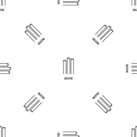 Bucatini pattern seamless vector