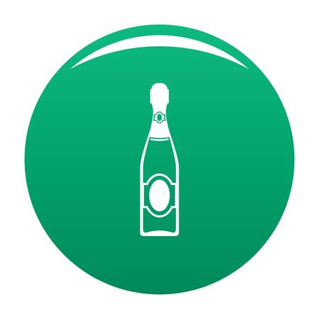 Dry champagne icon vector green