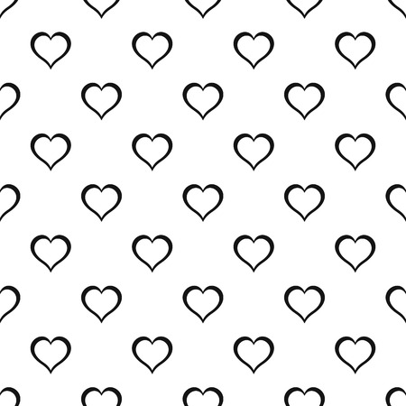 Heart pattern seamless vector repeat geometric for any web design
