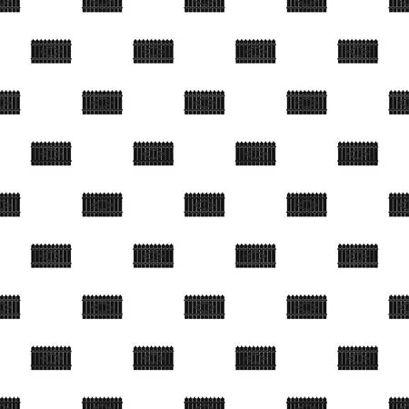 Wooden peak fence pattern seamless vector repeat geometric for any web design Illustration