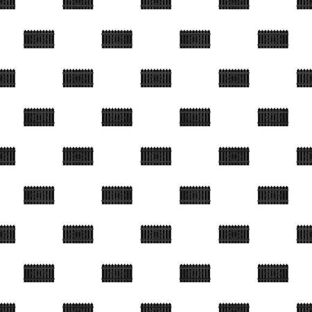 Wooden peak fence pattern seamless vector repeat geometric for any web design Illusztráció