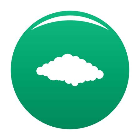 Cold icon. Simple illustration of cold vector icon for any design green