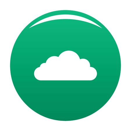 Bottom cloud icon. Simple illustration of bottom cloud vector icon for any design green