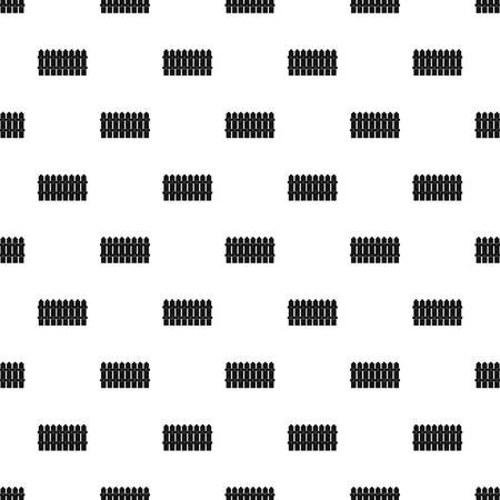 Low fence pattern seamless vector repeat geometric for any web design Vecteurs