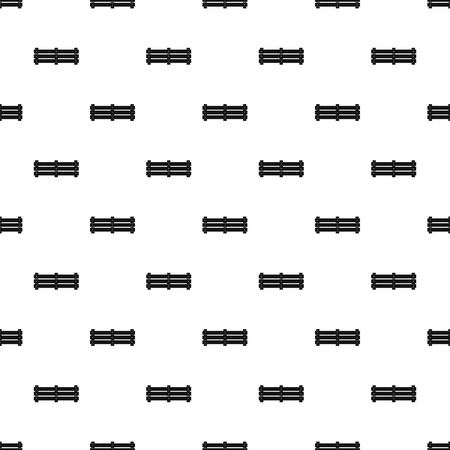 Wide fence pattern seamless vector repeat geometric for any web design Vecteurs