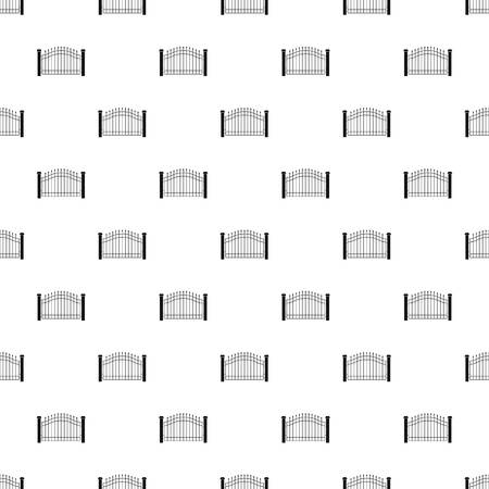 Park fence pattern seamless vector repeat geometric for any web design