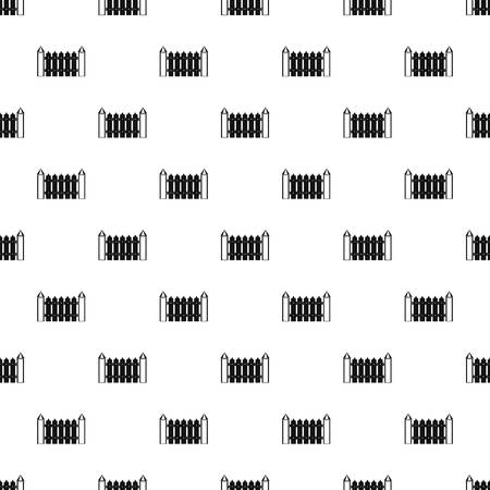 Garden fence pattern seamless vector repeat geometric for any web design Vecteurs