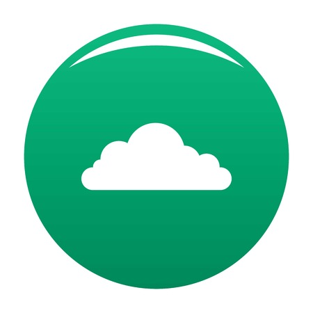 Cumulonimbus cloud icon. Simple illustration of cumulonimbus cloud vector icon for any design green