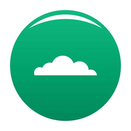 Cumulus cloud icon. Simple illustration of cumulus cloud vector icon for any design green Illustration