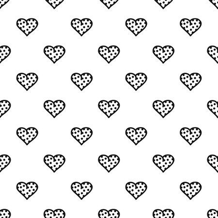 Pea heart pattern seamless vector repeat geometric for any web design Vector Illustration