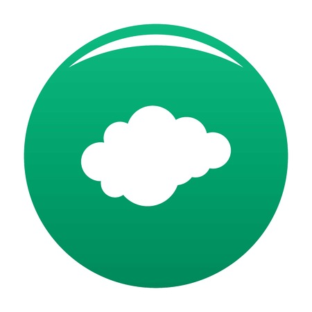 Cloud with downfall icon. Simple illustration of cloud with downfall vector icon for any design green