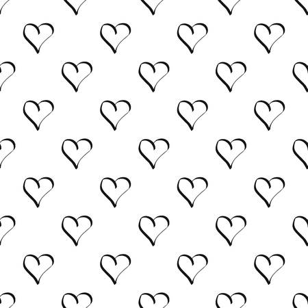 Best heart pattern seamless vector repeat geometric for any web design