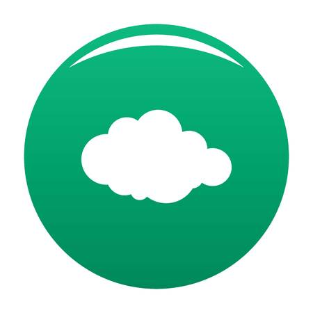 Rare cloud icon. Simple illustration of rare cloud vector icon for any design green