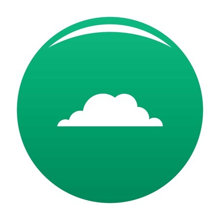 Weather icon. Simple illustration of weather vector icon for any design green Illustration