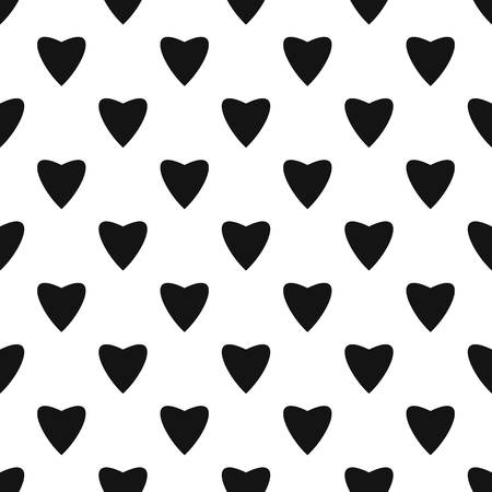 Proud heart pattern seamless vector repeat geometric for any web design