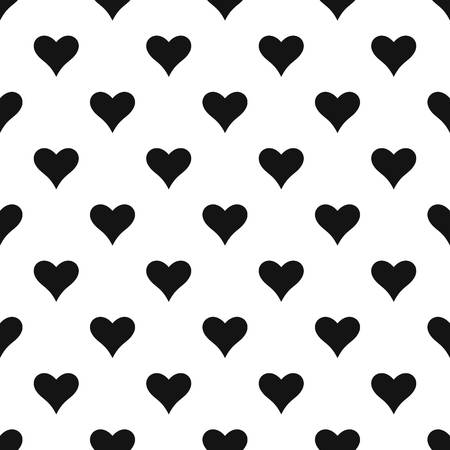 Affectionate heart pattern seamless vector repeat geometric for any web design 일러스트