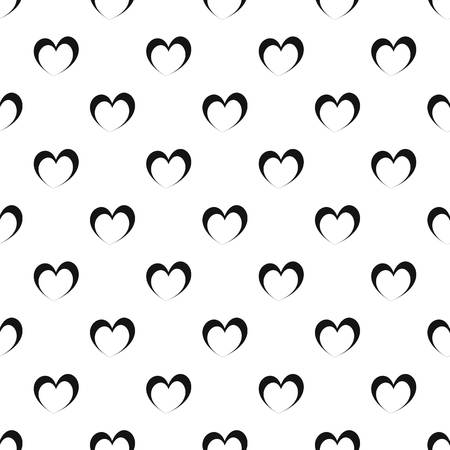 Frantic heart pattern seamless vector repeat geometric for any web design
