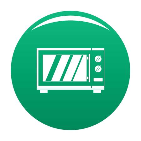 Kitchen microwave oven icon. Simple illustration of kitchen microwave oven vector icon for any design green