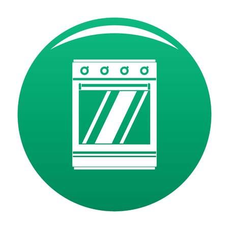 Modern gas oven icon. Simple illustration of modern gas oven vector icon for any design green Illustration