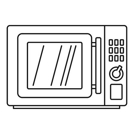 Microwave icon. Outline microwave vector icon for web design isolated on white background Vecteurs
