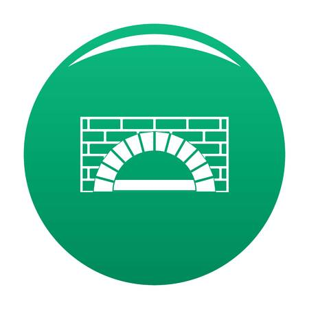 Brick oven icon vector green