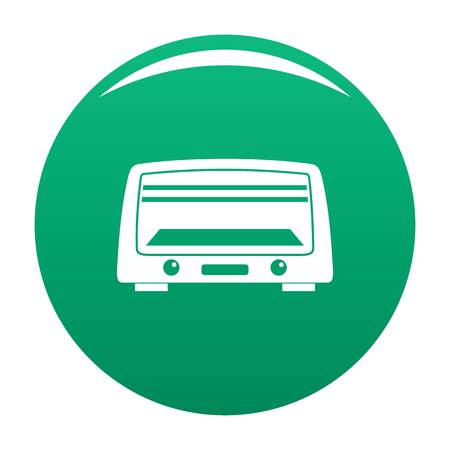 Microwave oven icon vector green