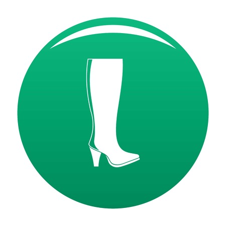 Woman boots icon vector green