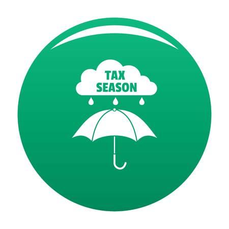 Tax season icon vector green