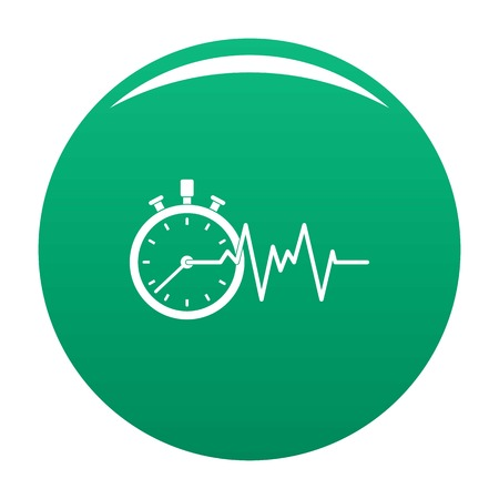 Encephalogram icon vector green Illustration
