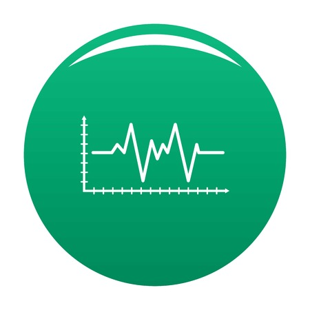 Cardiogram icon vector green Illustration