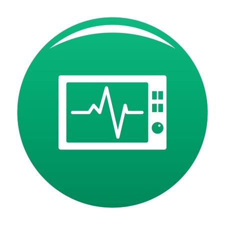 Ekg icon vector green