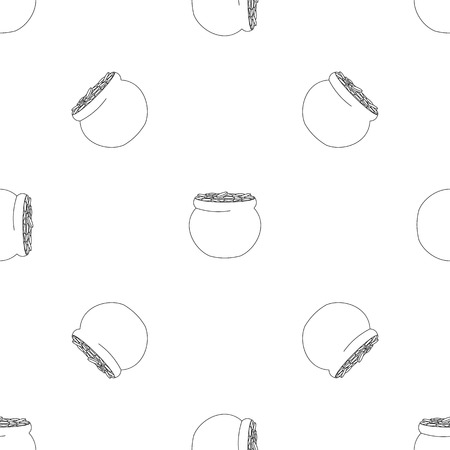 Potty with coin pattern seamless vector repeat geometric for any web design Illustration