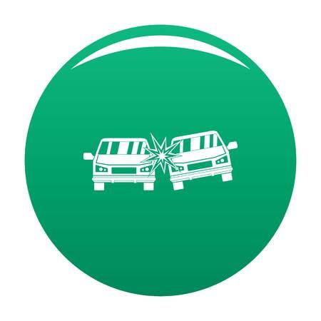 Boom car icon vector green