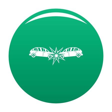 Head collision icon vector green