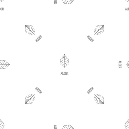 Alder leaf pattern seamless vector repeat geometric for any web design Ilustración de vector