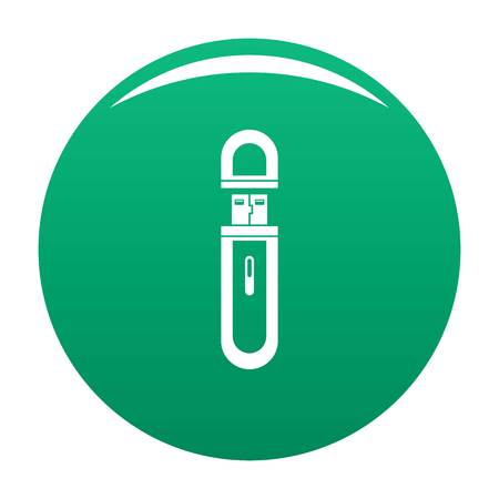 Usb flash drive icon vector green