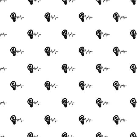 Ear pattern seamless vector