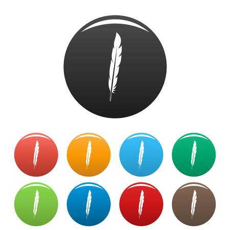 Design feather icons set color