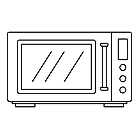 House microwave icon. Outline house microwave vector icon for web design isolated on white background Ilustração