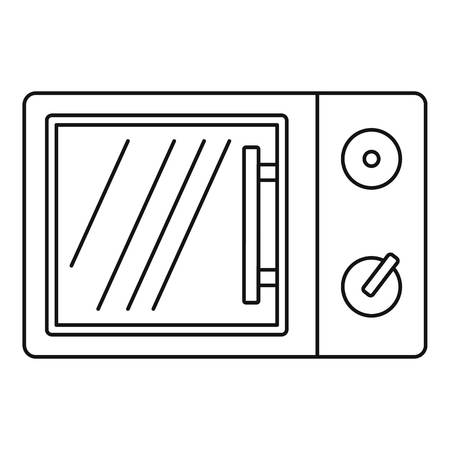 Electric microwave icon. Outline electric microwave vector icon for web design isolated on white background Ilustração